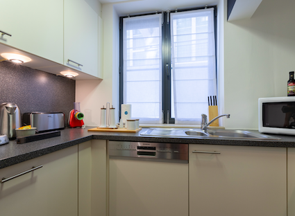 Kitchen at Sablons Apartment - Citybase Apartments