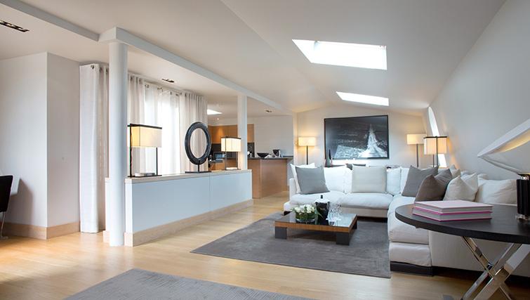 Living room at La Reserve Paris Apartments - Citybase Apartments