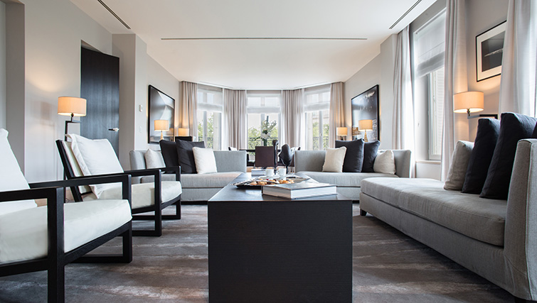 Stylish living room at La Reserve Paris Apartments - Citybase Apartments