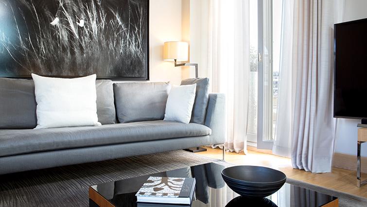 Sofa at La Reserve Paris Apartments - Citybase Apartments