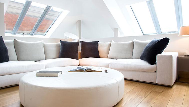 Bright lounge area at La Reserve Paris Apartments - Citybase Apartments