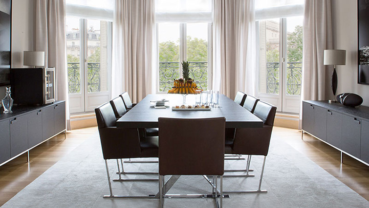 Dining table at La Reserve Paris Apartments - Citybase Apartments