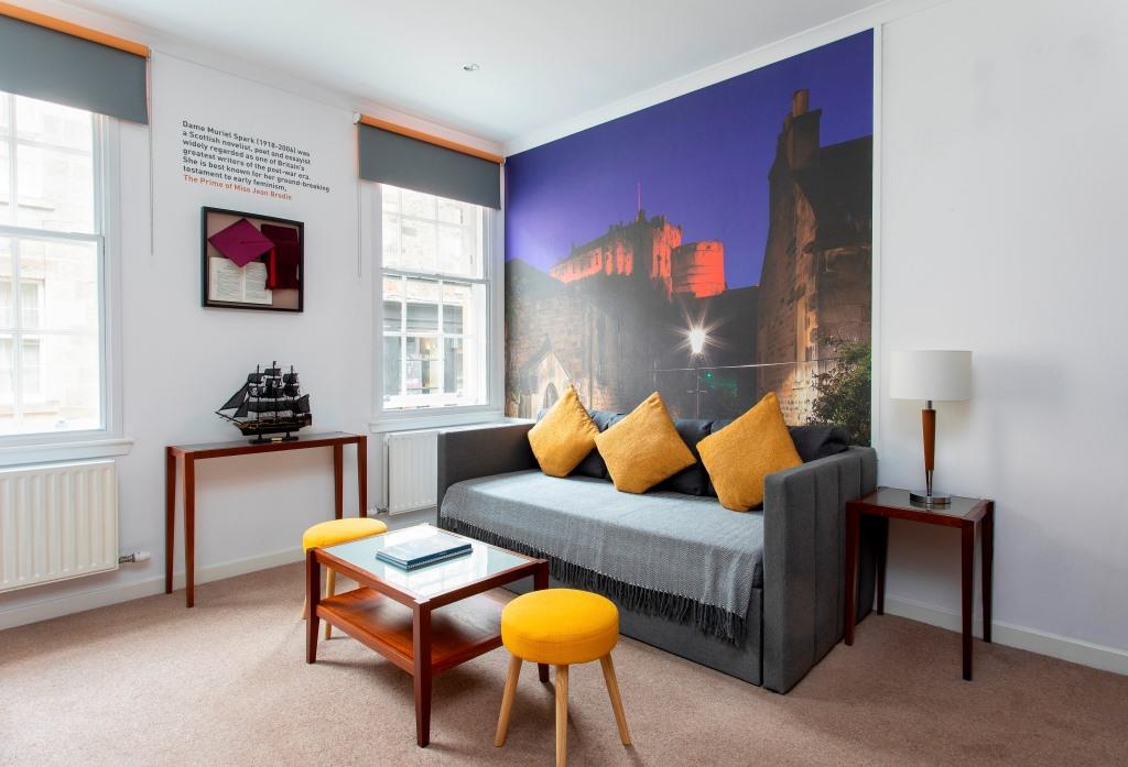 Yellow pillow at Stewart Aparthotel, Centre, Edinburgh - Citybase Apartments