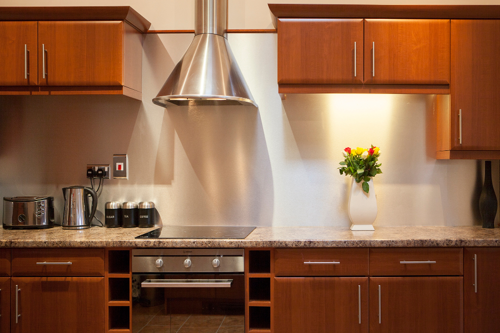 Kitchen at Pilcher Gate Serviced Apartments - Citybase Apartments