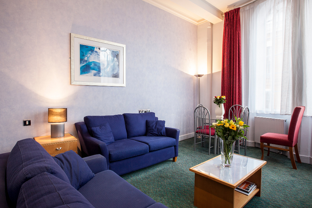 Sofa at Pilcher Gate Serviced Apartments - Citybase Apartments