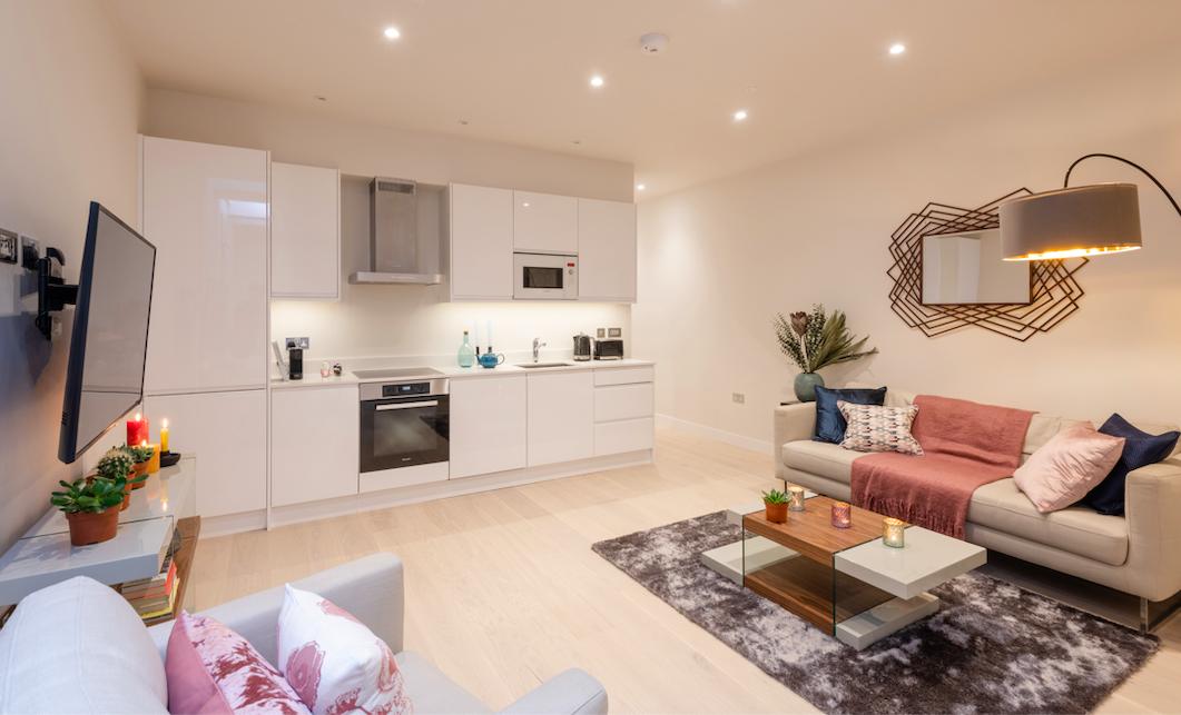 Kitchen at Kensington High Street Serviced Apartments - Citybase Apartments