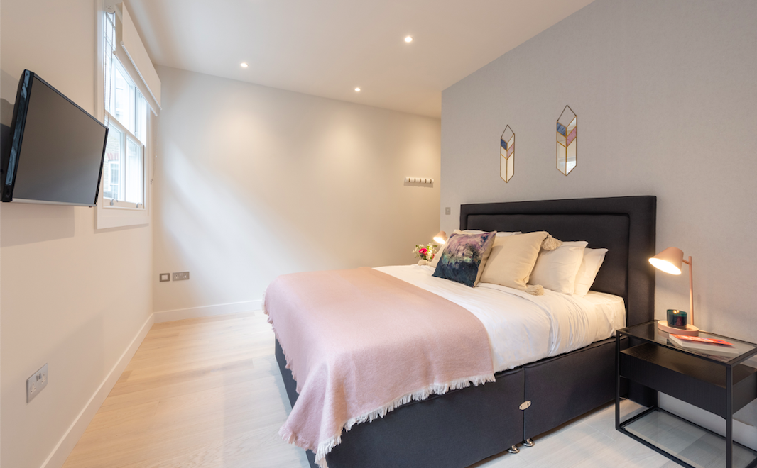 Bedroom at Kensington High Street Serviced Apartments - Citybase Apartments