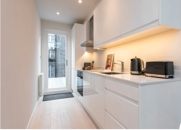 Kitchen facilities at Kensington High Street Serviced Apartments - Citybase Apartments