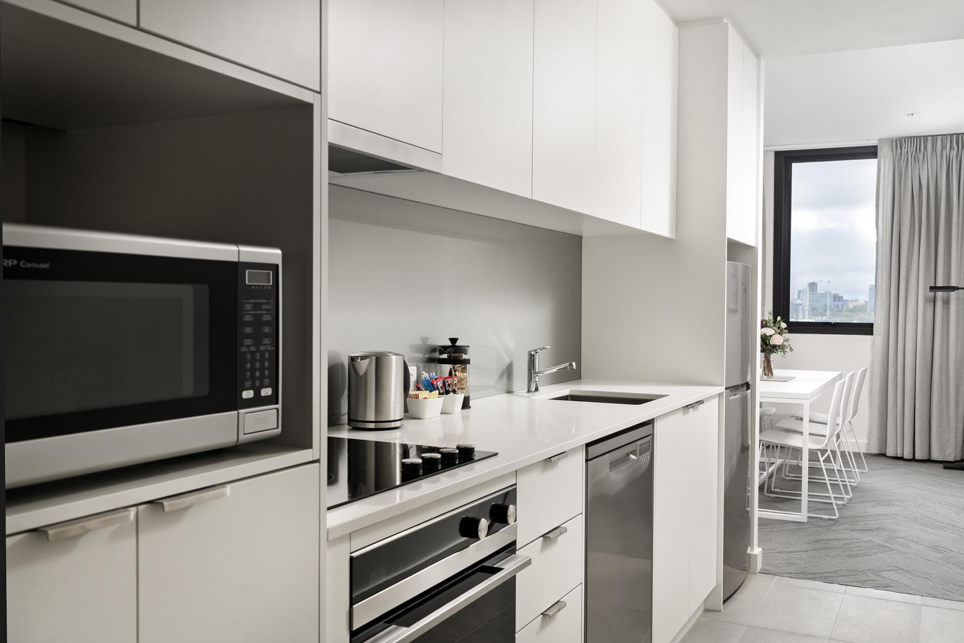 Kitchen at Quest South Perth Foreshore - Citybase Apartments