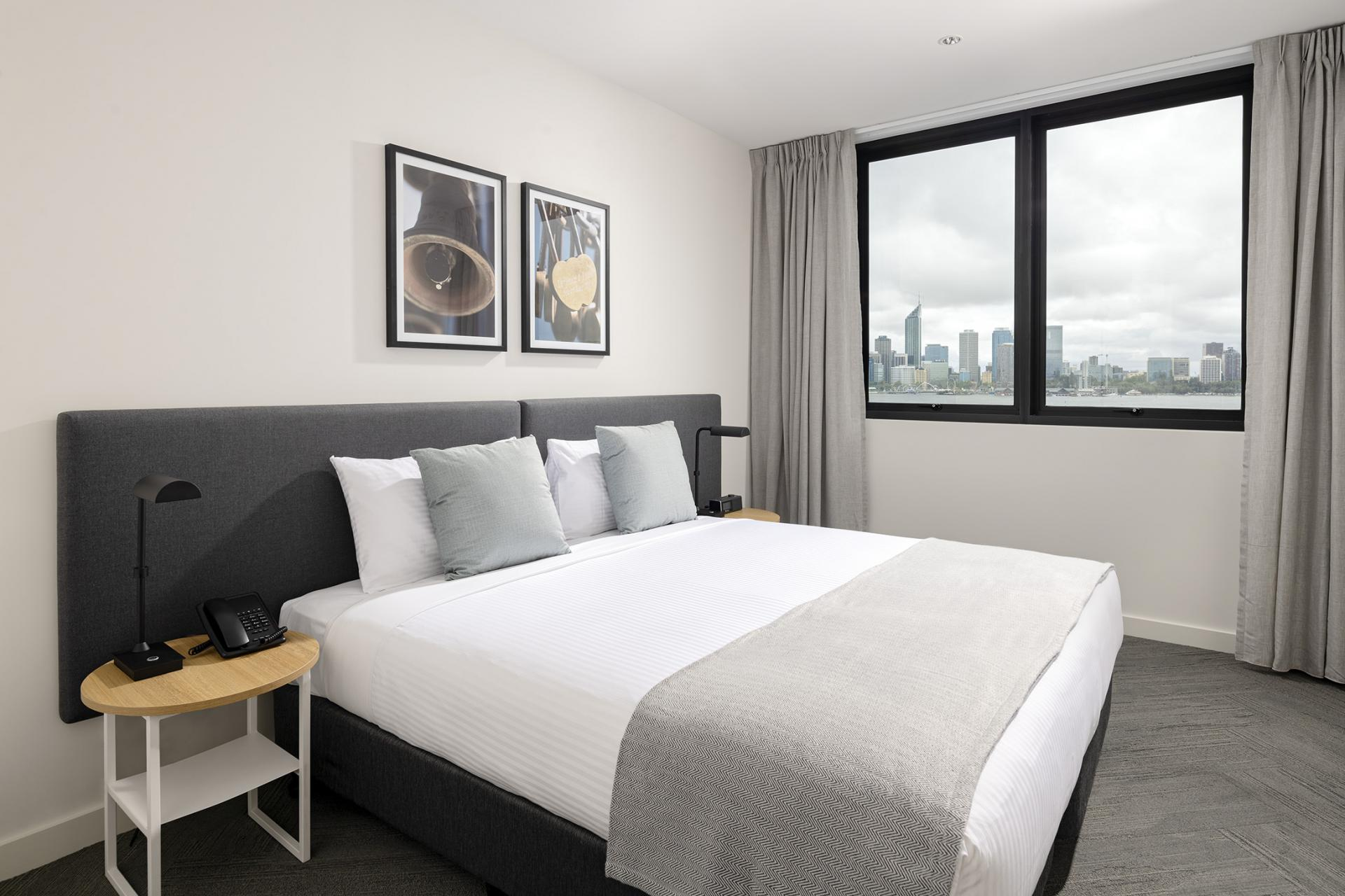 Bedroom at Quest South Perth Foreshore - Citybase Apartments