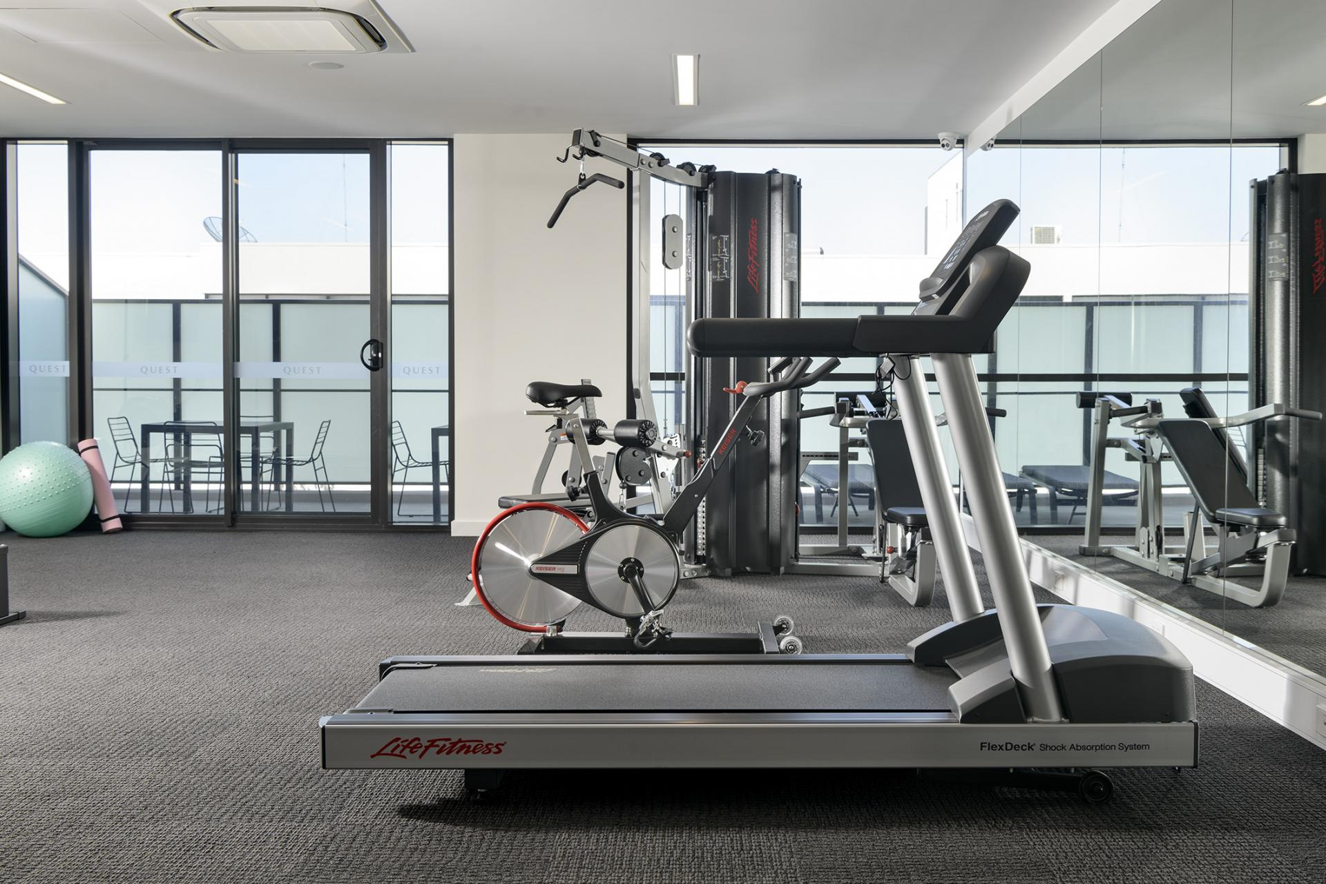 Gym at Quest South Perth Foreshore - Citybase Apartments