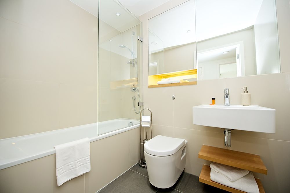 Bathroom at Staycity Aparthotels Paris Marne La Vallee, Centre, Bailly-Romainvilliers - Citybase Apartments