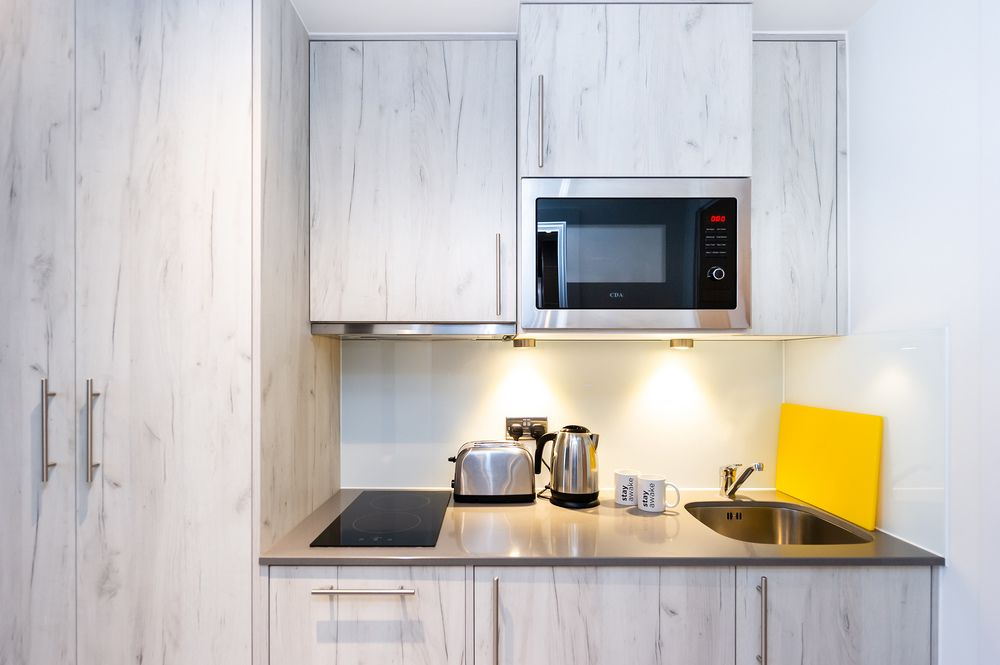 Kitchen at Staycity Aparthotels Paris Marne La Vallee, Centre, Bailly-Romainvilliers - Citybase Apartments
