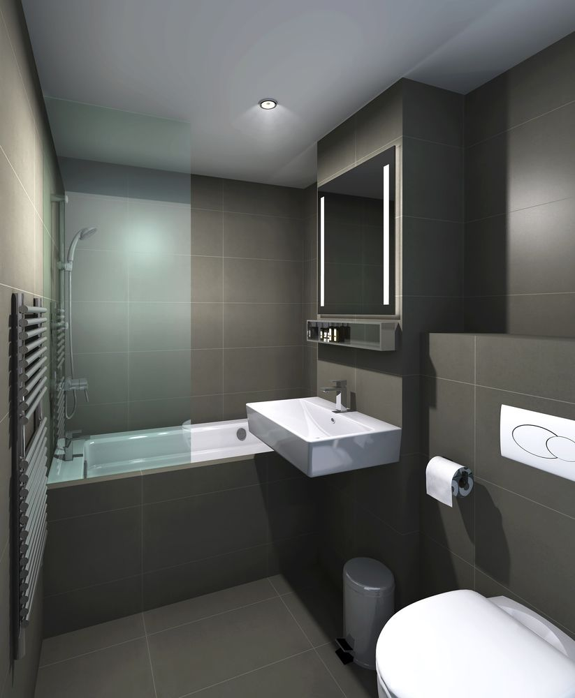 Sleek bathroom at Staycity Aparthotels Paris Marne La Vallee, Centre, Bailly-Romainvilliers - Citybase Apartments