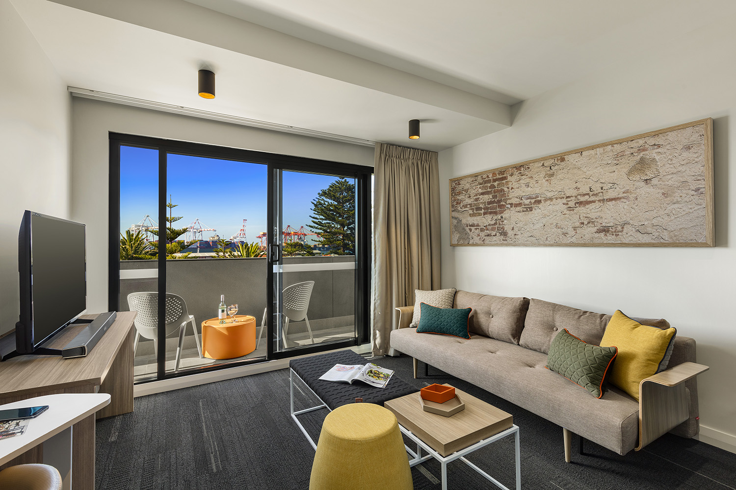 Living room at Quest Fremantle - Citybase Apartments