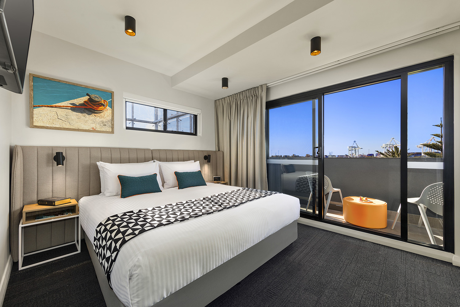 Modern bedroom at Quest Fremantle - Citybase Apartments