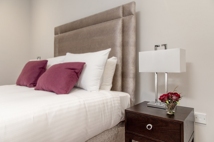 Modern bedroom at Chisholm Hunter Suites - Citybase Apartments
