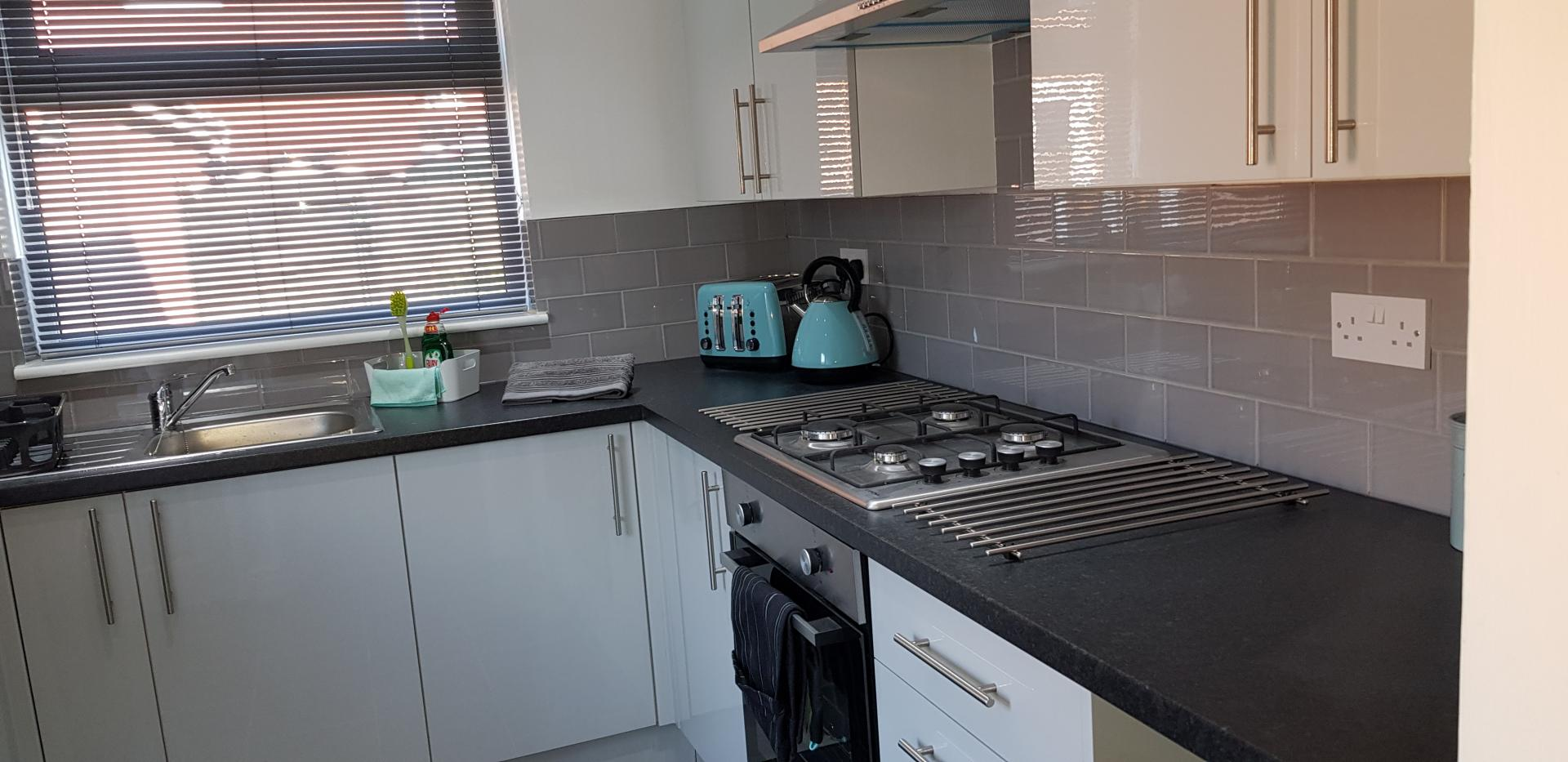 Kitchen at Mapelwell House - Citybase Apartments