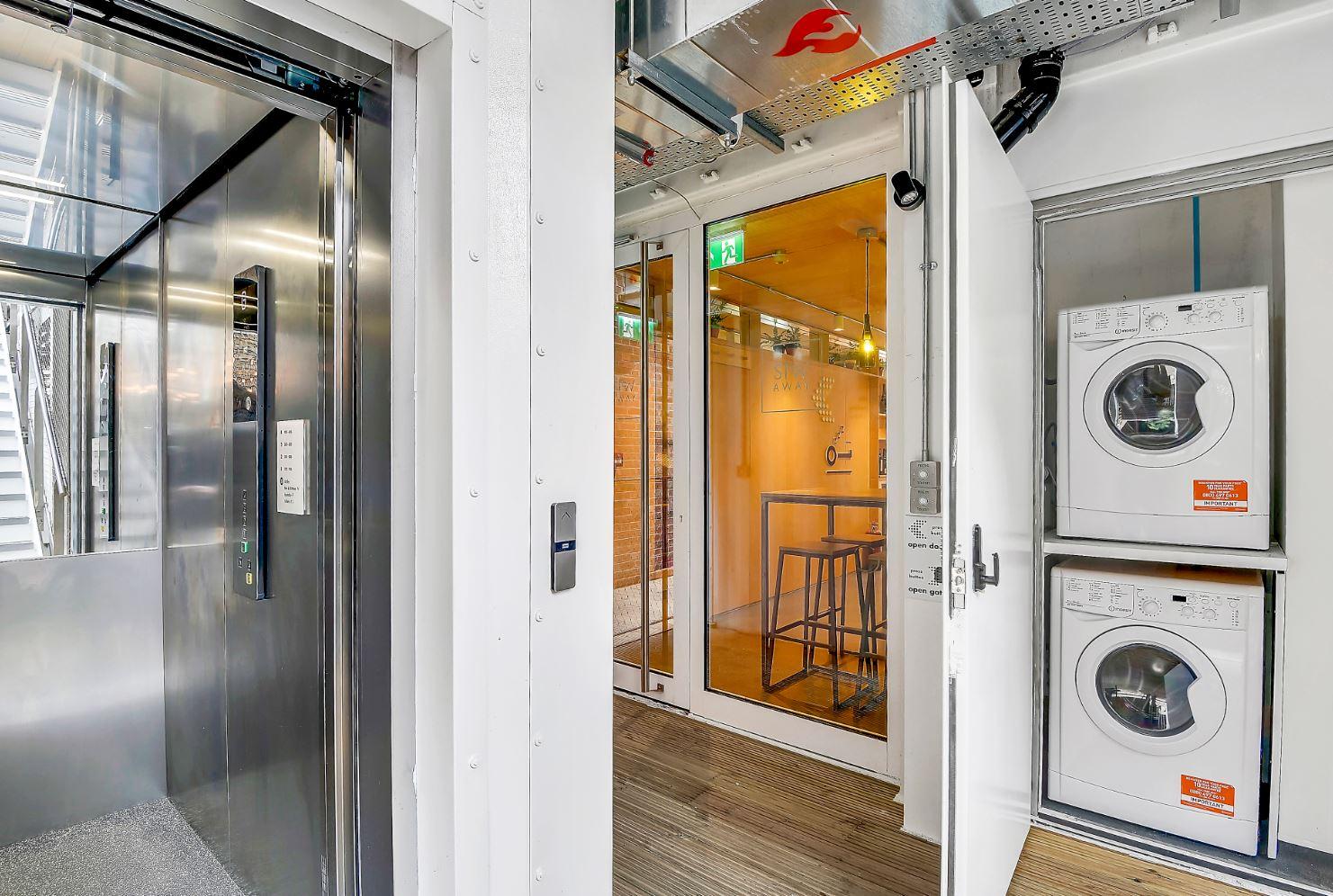 Washing facilities at Stow-Away Waterloo Apartments - Citybase Apartments