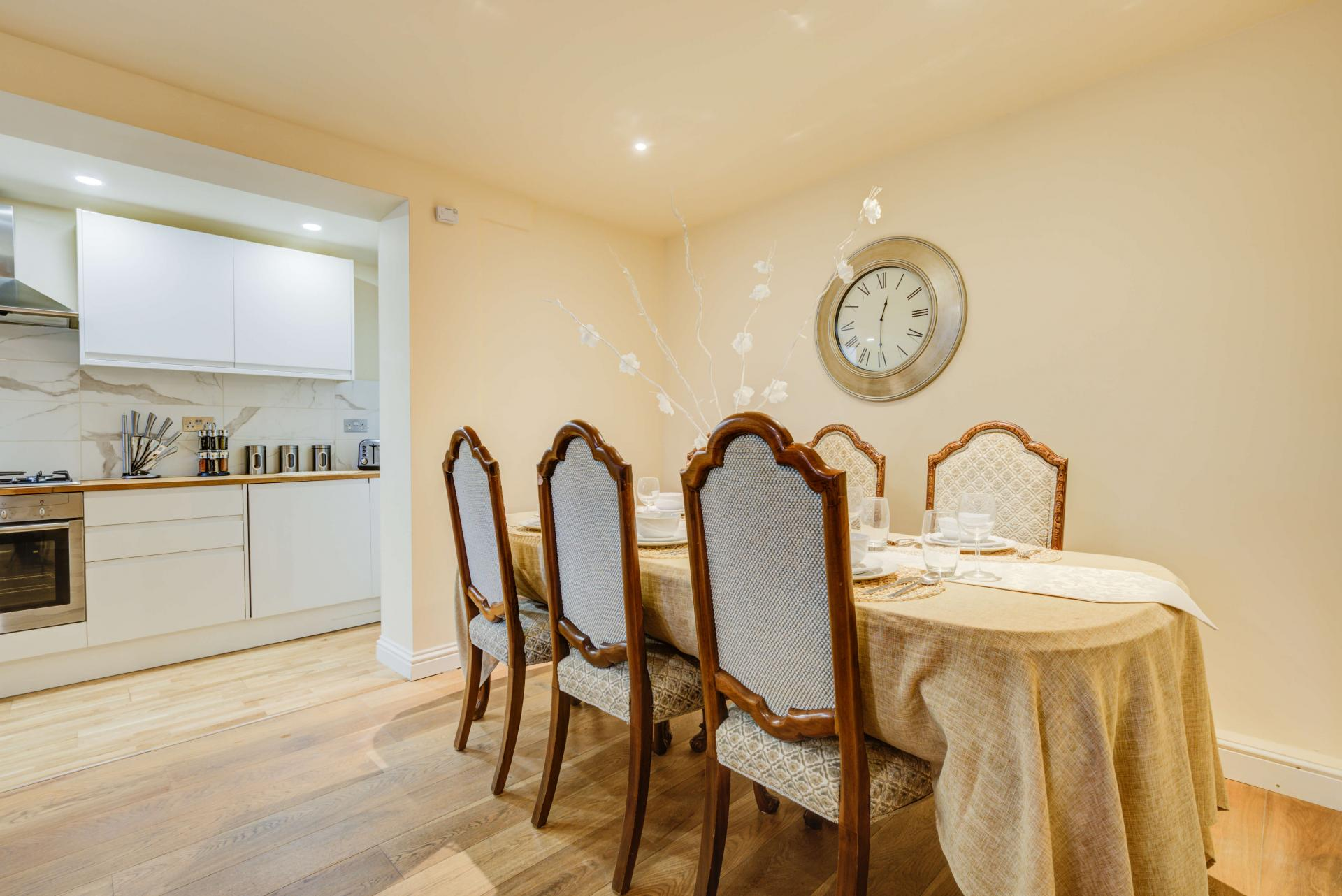 Dining area at Mill Cross Apartment - Citybase Apartments