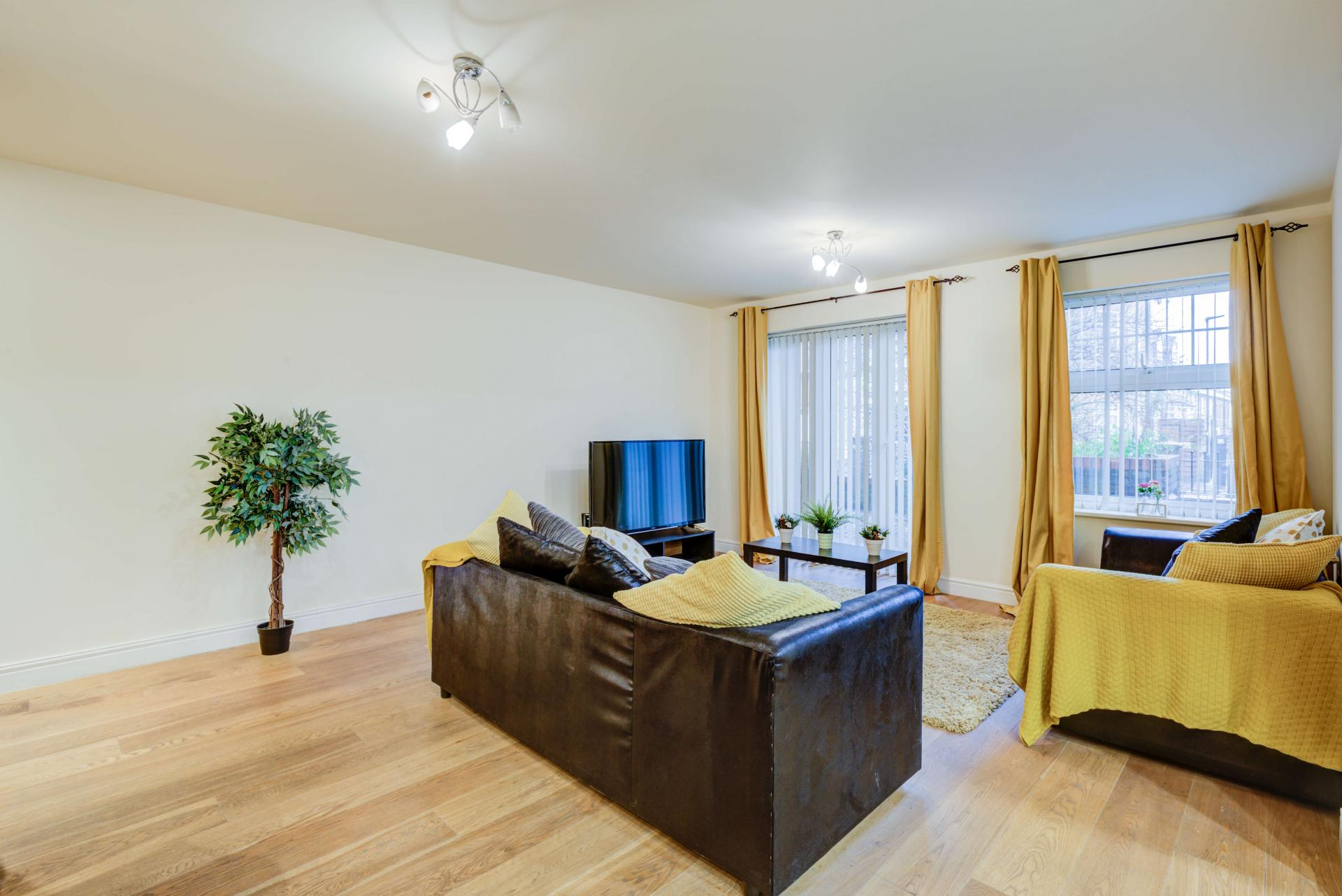 Spacious living room at Mill Cross Apartment - Citybase Apartments