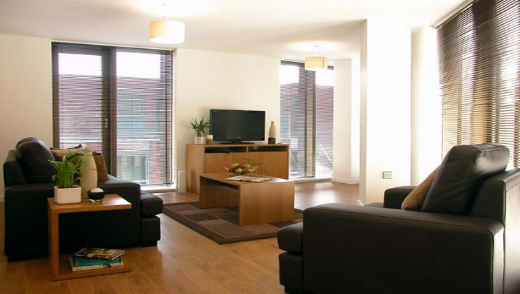 Modern living area at Liverpool One Apartments - Citybase Apartments