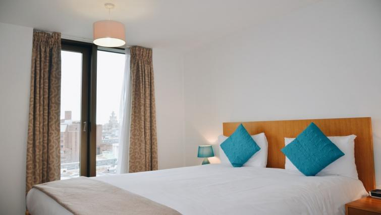 Double bed at Liverpool One Apartments - Citybase Apartments