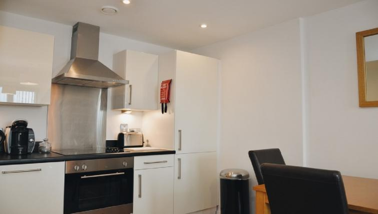 Modern kitchen at Liverpool One Apartments - Citybase Apartments