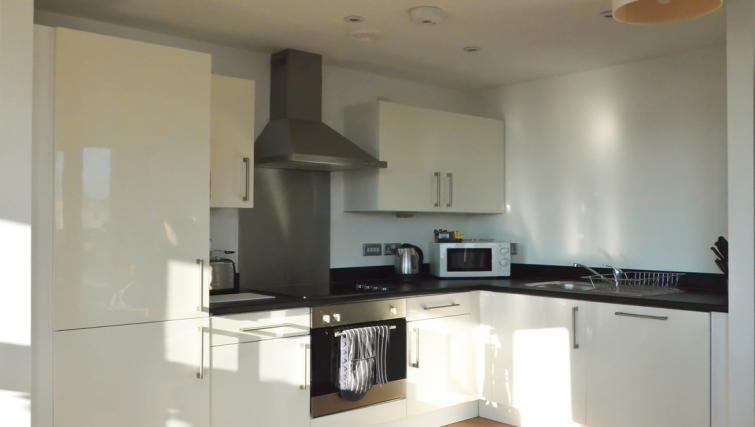 Bright kitchen at Liverpool One Apartments - Citybase Apartments