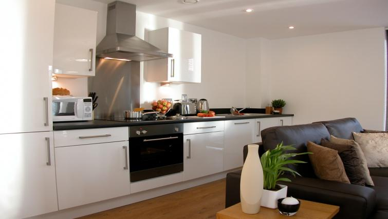 Kitchen at Liverpool One Apartments - Citybase Apartments
