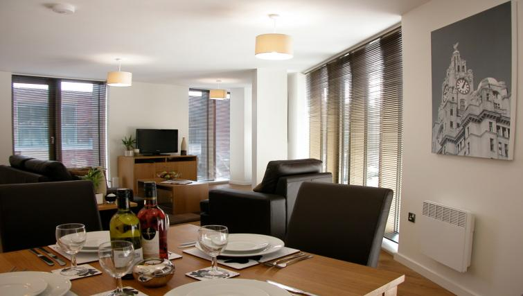 Dining area at Liverpool One Apartments - Citybase Apartments