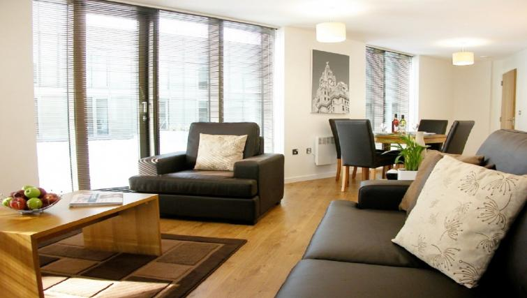Spacious living area at Liverpool One Apartments - Citybase Apartments