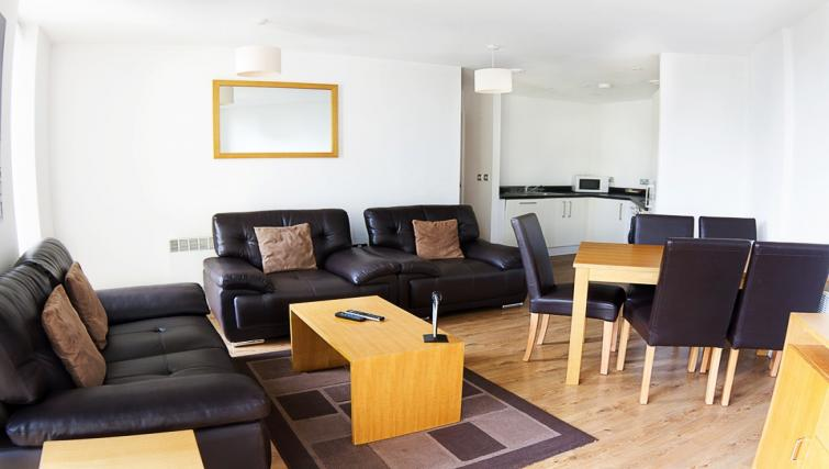 Living/dining area at Liverpool One Apartments - Citybase Apartments