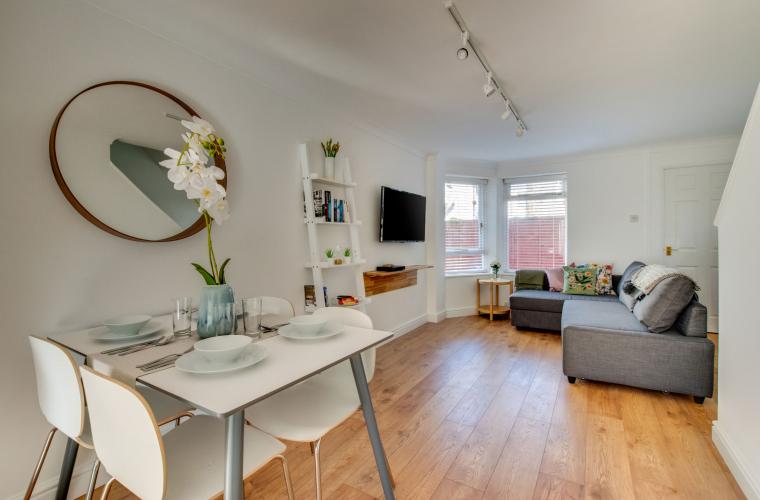 Living room at Pontcanna Mews - Citybase Apartments