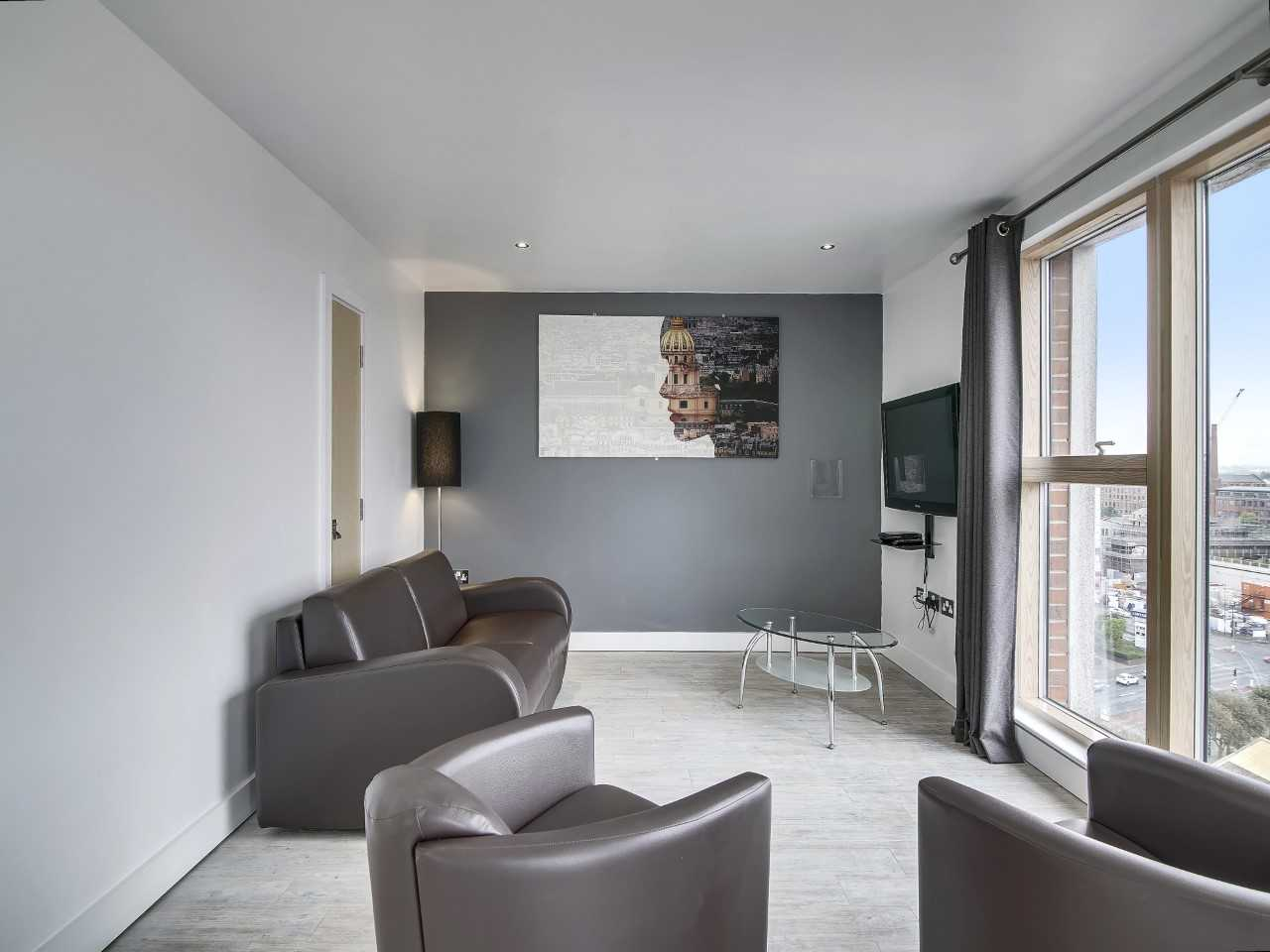 Living area at The Northern Quarters Apartments - Citybase Apartments