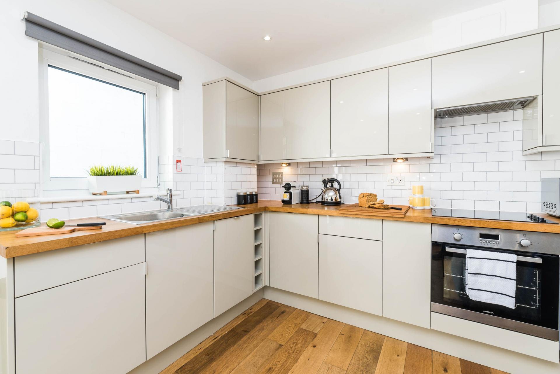Kitchen at Vibrant Vauxhall Apartments - Citybase Apartments