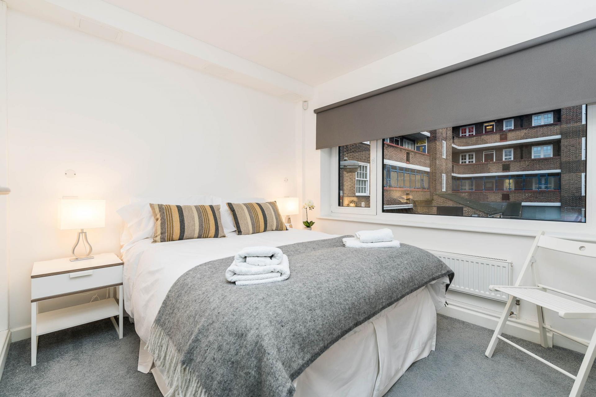 Bedroom at Vibrant Vauxhall Apartments - Citybase Apartments