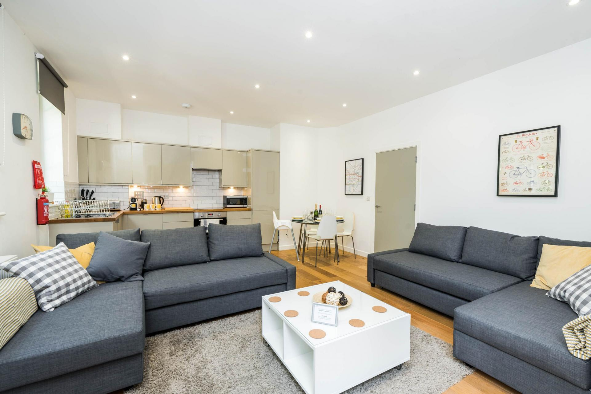 Sofa at Vibrant Vauxhall Apartments - Citybase Apartments