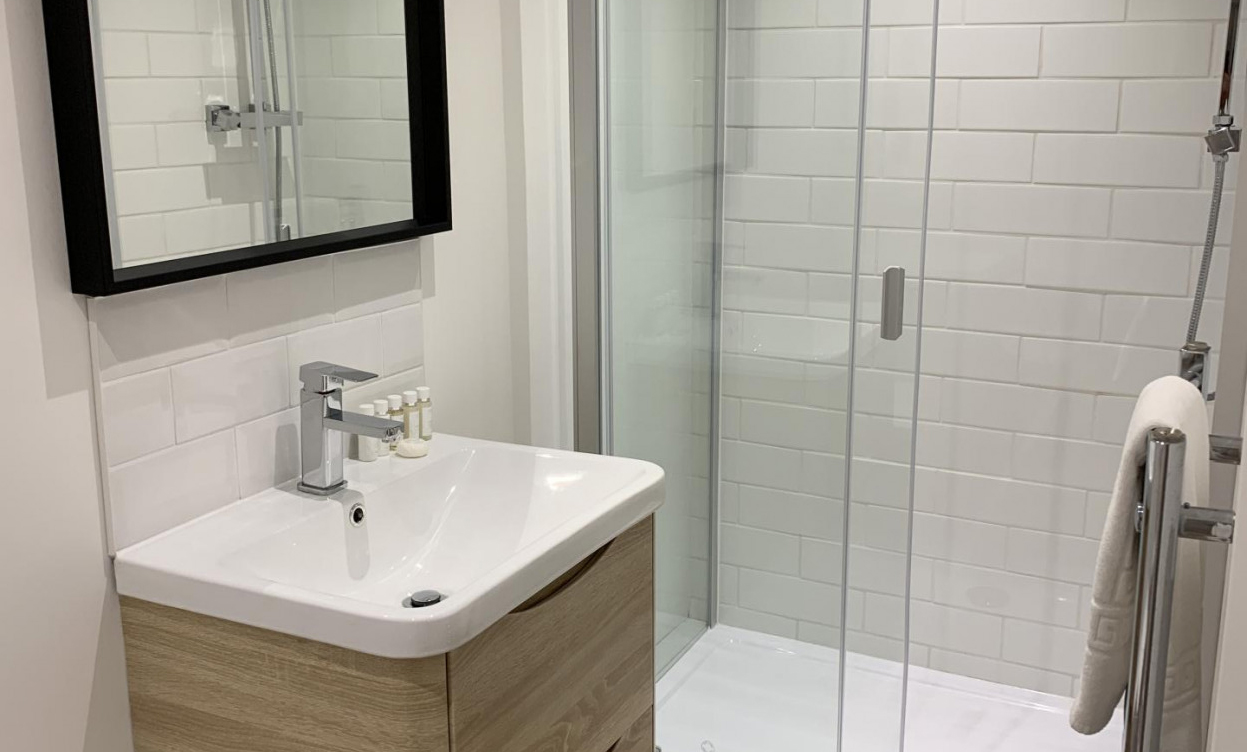 Sink at Victoria House Serviced Apartments, Victoria Park, Cardiff - Citybase Apartments