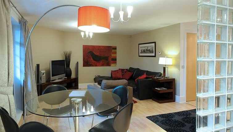 Living/dining area at Blake Mews Apartments - Citybase Apartments
