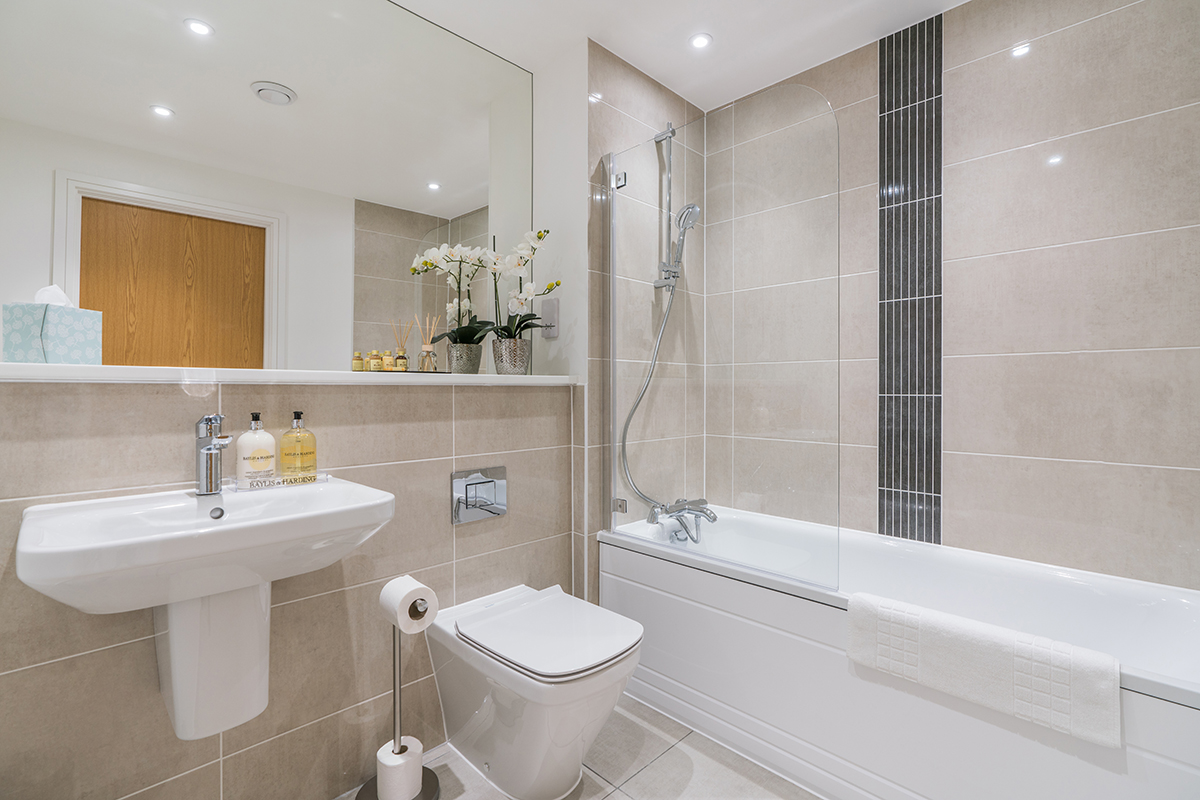 Bathroom at Deanery Court Apartments - Citybase Apartments