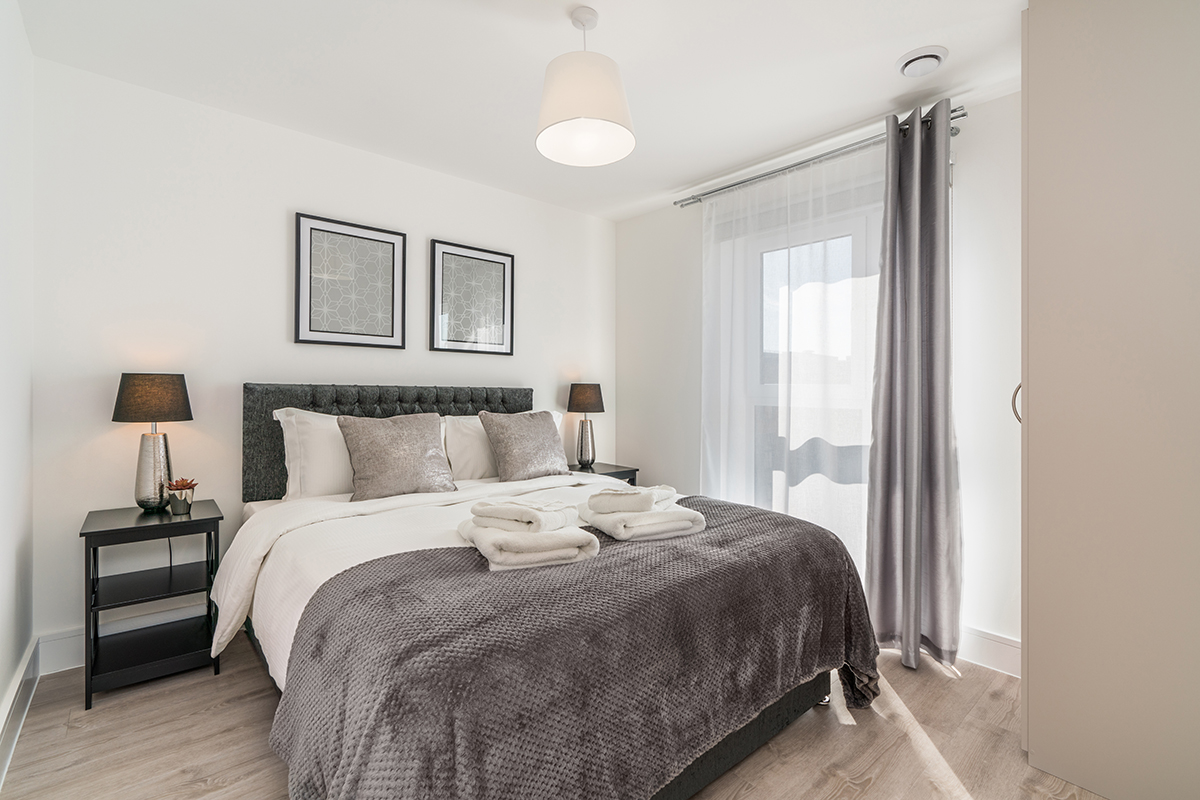 Bedroom at Deanery Court Apartments - Citybase Apartments
