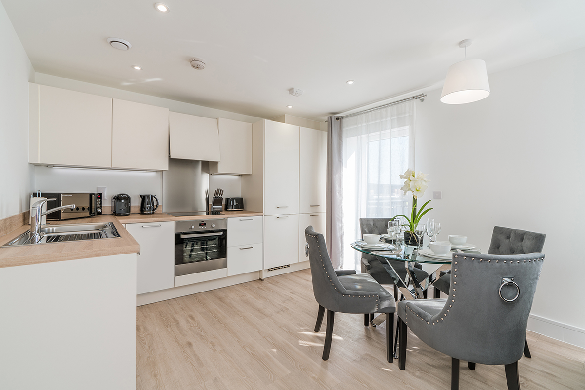 Kitchen at Deanery Court Apartments - Citybase Apartments