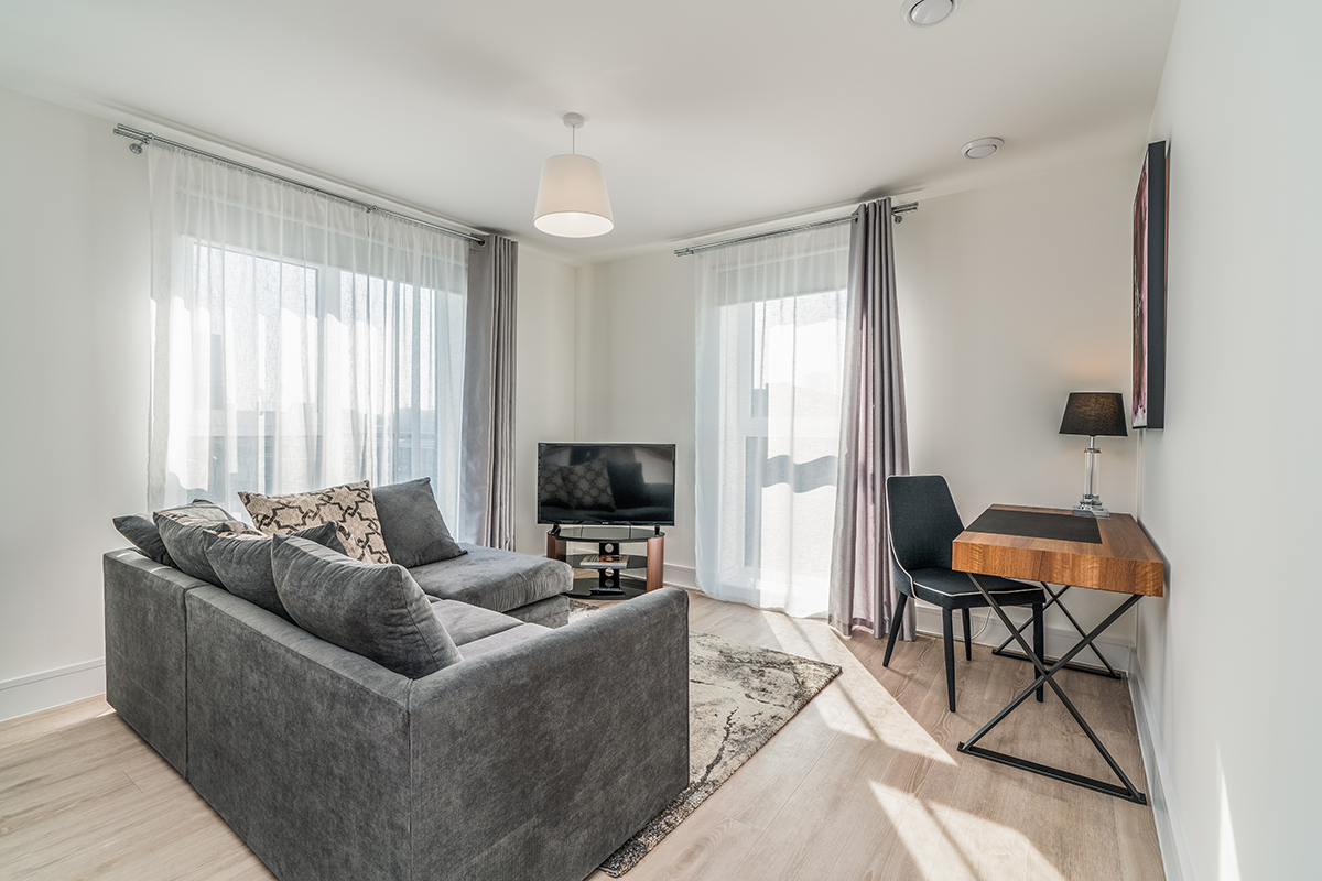 Living room at Deanery Court Apartments - Citybase Apartments