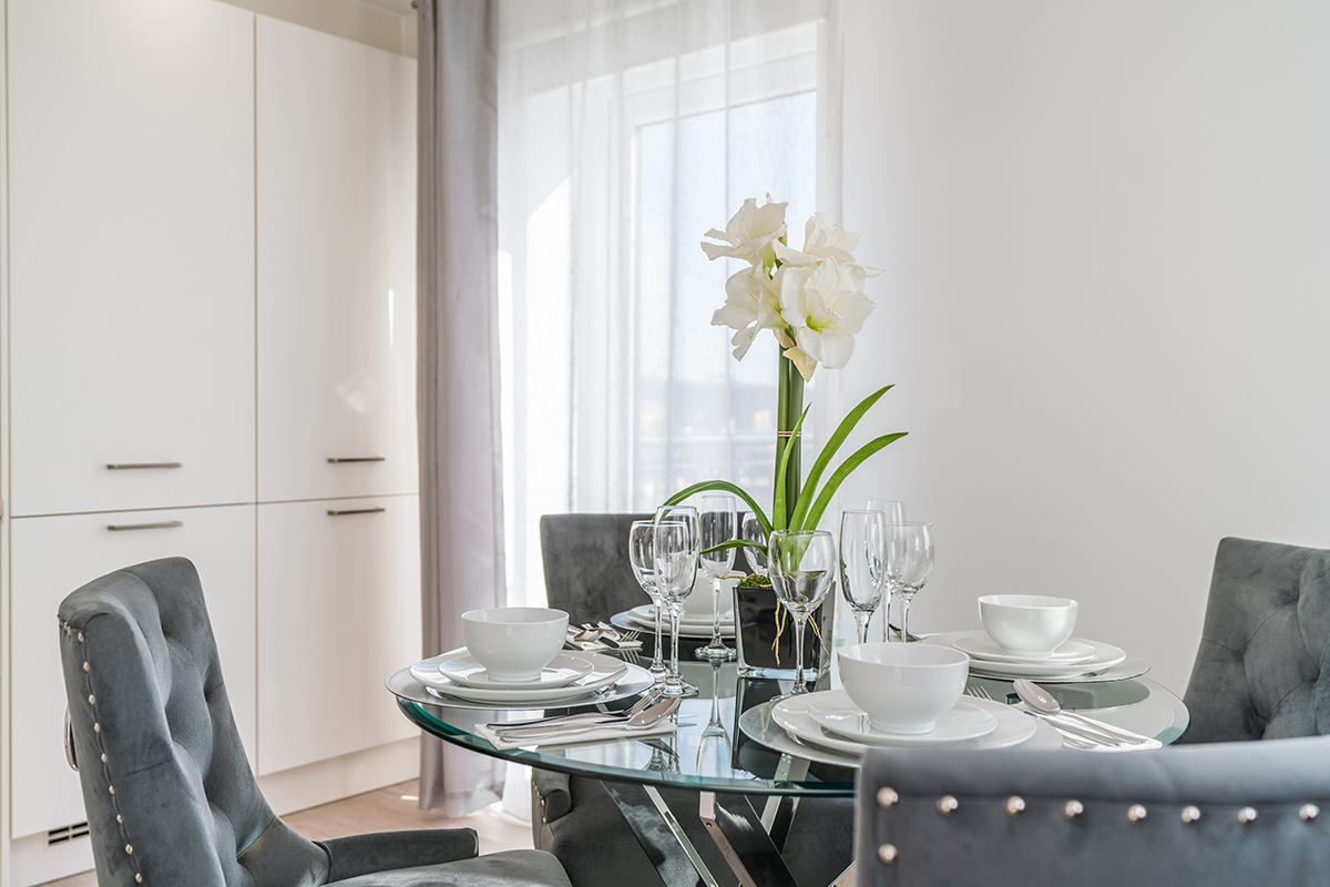 Dining table at Deanery Court Apartments - Citybase Apartments