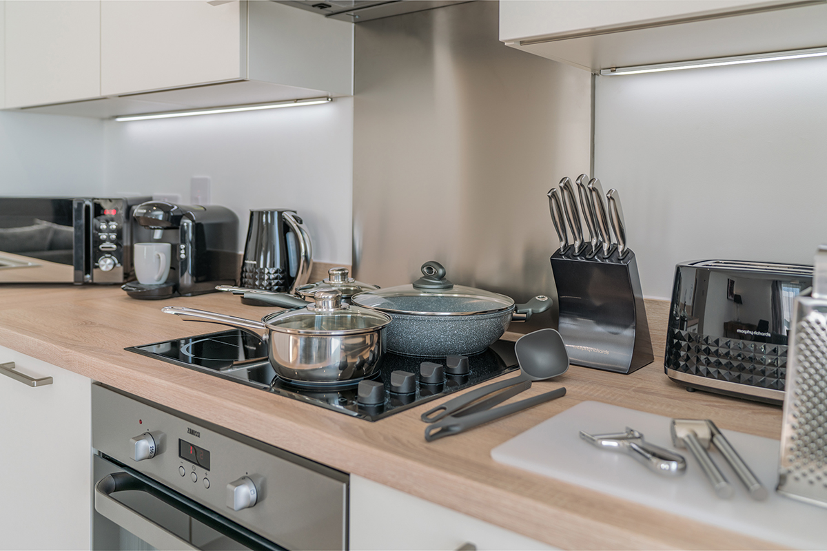 Stove at Deanery Court Apartments - Citybase Apartments