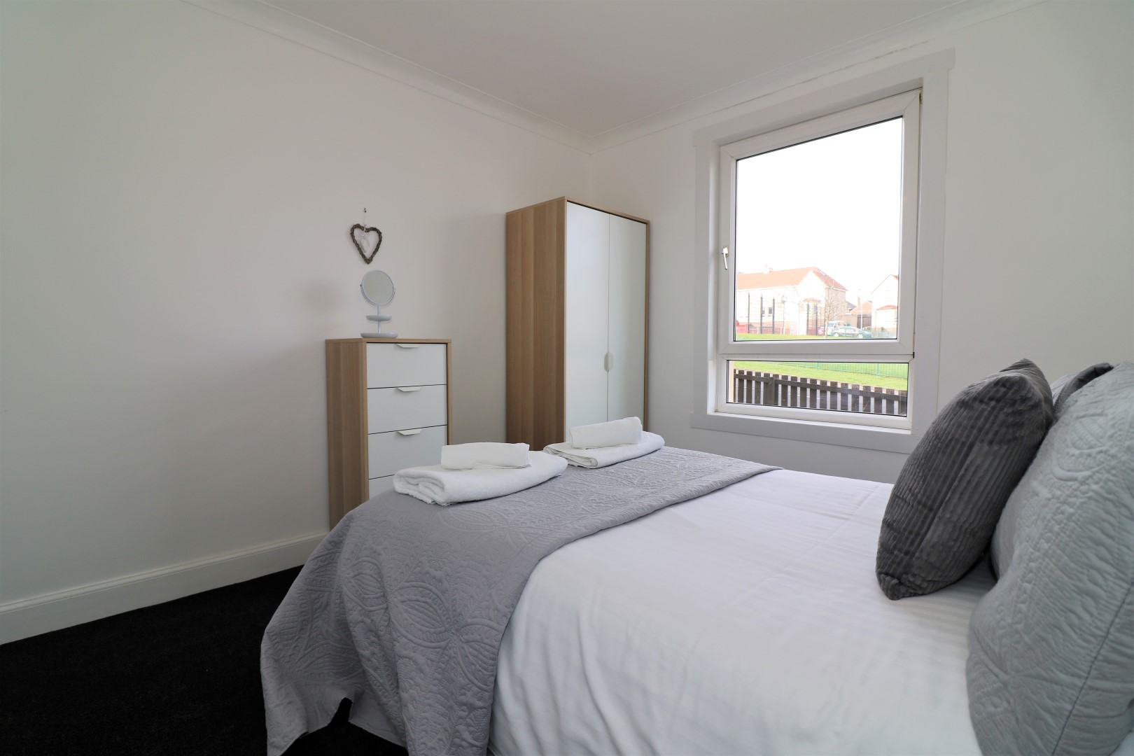 Bright living room at Gartlea House - Citybase Apartments
