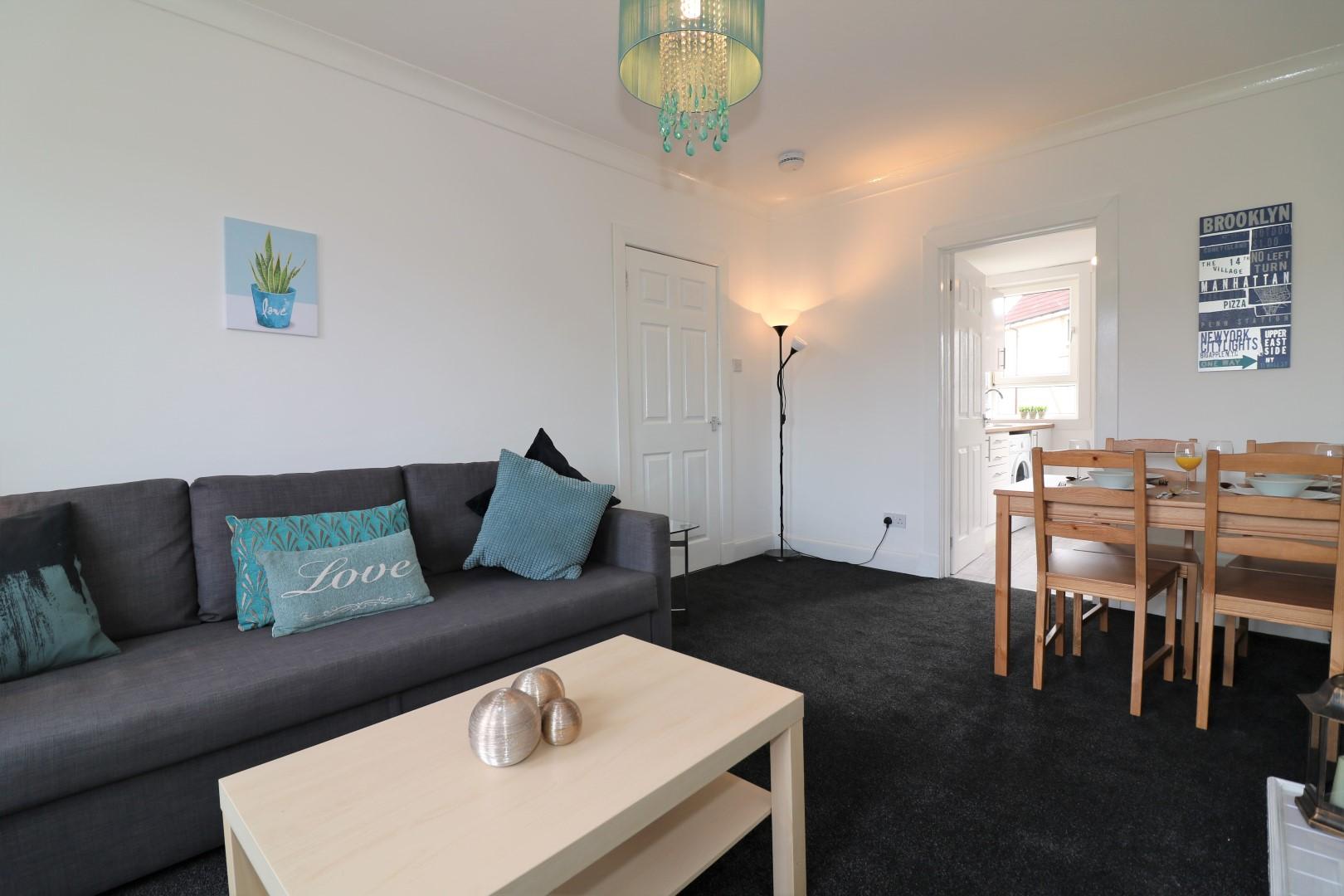 Living room at Gartlea House - Citybase Apartments
