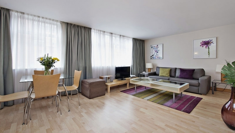 Bright living area in 6-8 St Christophers Place Apartments - Citybase Apartments