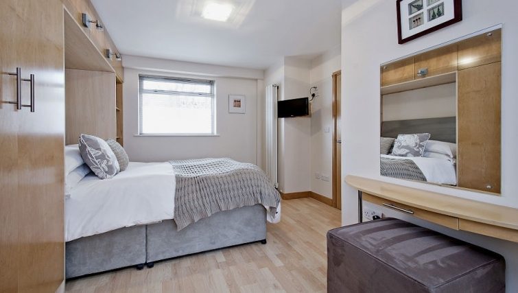 Stylish bedroom in 8 St Christophers Place Apartments - Citybase Apartments